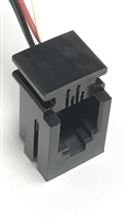 "616-P-BLK - PHYco - Black modular connector with 3"" leads"