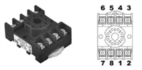 70169-D - MACROMATIC - 8 pin octal socket, 10 Amp, 600V