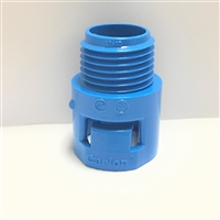A243D - THOMAS&BETTS - CARLON - One Piece Threaded Adapter, Size 1/2 Inch, Length 1.406 Inches, Material Polycarbonate