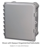 AH664 - ATTABOX - Heartland Polycarbonate Enclosure 6 x 6 x 4 inches with Opaque Cover-Hinged,Latched,Padlockable