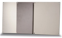 BP108A - ATTABOX - Standard Aluminum Back Panel 10 x 8 inches used for Heartland, Commander, Freedom, and Centurion series