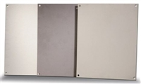 BP66A - ATTABOX - Standard Aluminum Back Panel 6 x 6 inches used for Heartland, Commander, Freedom, and Centurion series