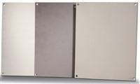 BP88A - ATTABOX - Standard Aluminum Back Panel 8 x 8 inches used for Heartland, Commander, Freedom, and Centurion series