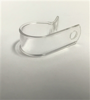 "BPD-1/2 CABLE CLAMP - 1/2"" NYLON CABLE CLAMPS - CLEAR"