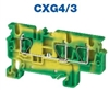 CXG4/3 - ALTECH - DIN Terminal, Spring, 3 conn; Ground, 24-8AWG, 6mm