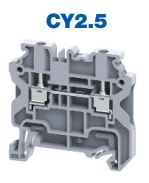 CY2.5 - ALTECH -  DIN Term Blk, Screw, Feed-Thru, 20A, 600V, 24-12AWG, 5mm, grey