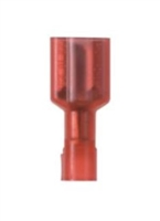DNF18-206FIB-3K - PANDUIT - Quick Connect Connector, Red Nylon fully insulated, Female Disconnect, 22-18AWG, 600V Max