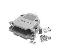 DP-15C - Pan Pacific - Gray Plastic Hood for 15 Pin D-Sub Connectors