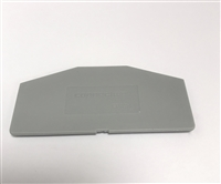 EPAS4 - ALTECH - End Plate, grey, use with DIN Term Blk AS4 Series