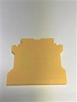 EPCGT4U/Y - Altech - End Plate, yellow, use with DIN Term Blk CGT4U (50 PK)