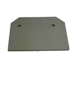EPCTC4U - Altech - End Plate, use with DIN Term Blk CTC4U, Grey, (50 PK)