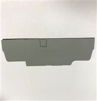 EPCX4/4 - ALTECH - End Plate, grey; use with DIN Term Blk CX4/4
