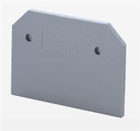 EPCY2.5/10 - ALTECH - End Plate, grey, use with DIN Term Blk CY Series (50 Pack)