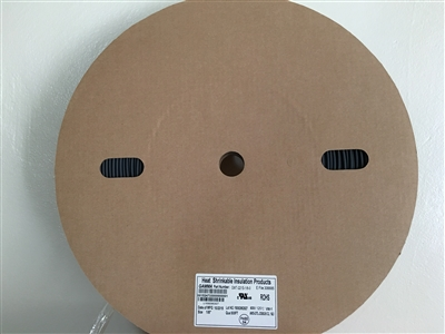 "GMT-221S-1/8-0 - GAMMA - 500' Flexible 1/8"" 2:1 Black Polyolefin Heat Shrink, (M/23053/5-104)"