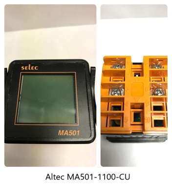 MA501-110V-CU - ALTECH - Ampere Meter, 1/16DIN, LCD; Ampere, 1 Phase, 110VAC