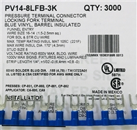 PV14-10LFB-3K - PANDUIT - Fork Terminal Locking, Blue Vinyl Insulated, 16-14AWG, #10 Stud Size, Funnel Entry-RoHS