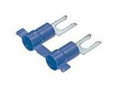 PV14-8LFB-3K - PANDUIT - Fork Terminal Locking, Blue Vinyl Insulated, 16-14AWG, #8 Stud Size, Funnel Entry-RoHS