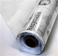 Premium Super Clear All Purpose Recyclable Vinyl, 4Gauge, 25 yards x 54""