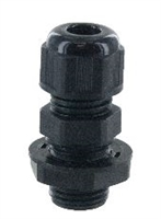 "RDC07AA - DOME CAP CABLE GLAND Pg7 .11-.26"" BLACK INCLUDES O-RING & LOCKNUT"