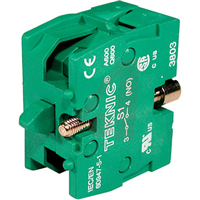 S1 - ALTECH - Contact Block, NO, Panel Mount - GREEN