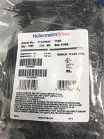 "T18R0M4 (111-01841) - HELLERMANNTYTON - Standard Cable Tie, 4"" Long, UL Rated, 18lb Tensile Strength, PA66, Black, 1000/pkg"