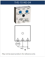 THS-1514D-04 - MACROMATIC - Time Delay Relay; Plug-in; Encapsulated; Repeat Cycle (On 1st); 12 VAC/DC; 10A Normally Open; 0.05 - 5 Sec. Timing; (Solid State)