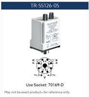 TR-55126-05 - MACROMATIC - Time delay Relay; Plug-in; Repeat Cycle (On 1st); 12 VAC/DC; 10A DPDT; 0.1-10 Sec. Timing