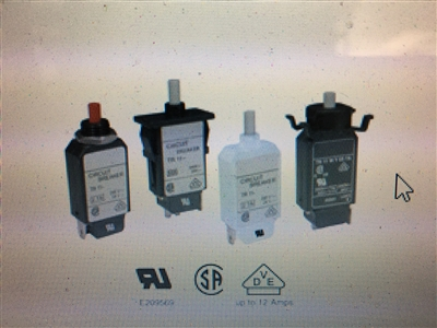 Circuit Breaker, 10A Single Re-Settable - TR20-C-63S-B3-A-10.0A-0