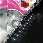 MIA SECRET NAILS  ROYAL FANCY 500 TIPS CLEAR