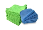 Lime Green and Blue Microfiber Cloths in Bulk