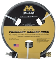 "3/8"" X 50' 4000 psi non-marking hose with quick connects"