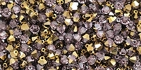 532804LAMYDOR 4mm Swarovski Crystal Light Amethyst Dorado Bicone Crystals 25 count