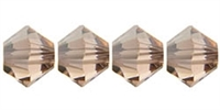 532804LTPCHSA - 4mm Swarovski Crystal Light Peach Satin Bicone Crystals 25 count