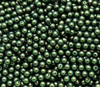 581004SCBGRN - 4mm Swarovski Crystal Scarabaeus Green Pearls 50 Count