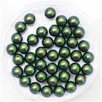 581006SCAGRN - 6mm Swarovski Crystal Scarabeaus Green Pearls - 10 Count