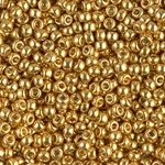 Miyuki Rocaille Seed Beads 10 Grams Duracoat Galvanized 8RR4202 Gold