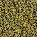Miyuki Rocaille 8/0 Seed Beads 10 Grams 8RR4515 Picasso Chartreuse