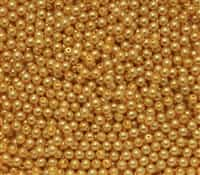 Pearl Coat Round 3mm : CP3-10137 - Pearl - Sunglow - 50 pcs