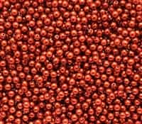 Pearl Coat Round 3mm : CP3-10182 - Pearl - Burnt Oragne - 50 pcs