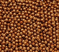 Pearl Coat Round 4mm : CP4-10271 - Copper - 50 pieces