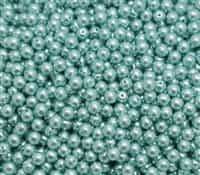 Pearl Coat Round 4mm : CP4-24644 - Celeste - 50 pieces