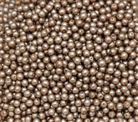 Pearl Coat Round 4mm : CP4-75417 - Taupe Satin - 50 pieces