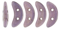 CZCRESC-P14415 : CzechMates Crescent: Luster - Opaque Lilac - 4 Grams - Approx 30 Beads