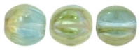 CZM5-Z6001 - Melon Round 5mm : Aquamarine - Celsian - 25 Beads
