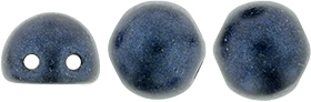 CZMCAB-79032 - CzechMates Cabochon 7mm : Metallic Suede - Dk Blue - 12 Count