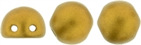 CZMCAB-K0173 - CzechMates Cabochon 7mm : Matte - Metallic Goldenrod - 12 Count