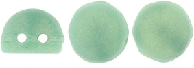 CZMCAB-MSG6313 - CzechMates Cabochon 7mm : Sueded Gold Turquoise - 12 Count
