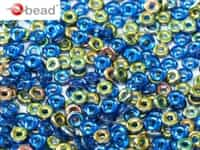 CZO-30050-28101 - Czech O Beads - 1x4mm - 4 Grams - approx 136 beads - Sappire Vitrail