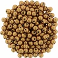 Round Beads 3mm: CZRD3-77063 - ColorTrends: Saturated Metallic Flame - 25 pieces