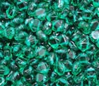 Czech Silky 2-Hole Beads 6x6mm - CZS-50720 - Transparent Emerald - 25 count
